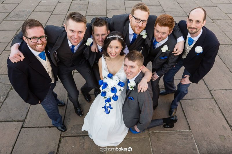 Fun Bridal Party Group Photographs Greenwich Wedding Photographer Graham Baker Photography