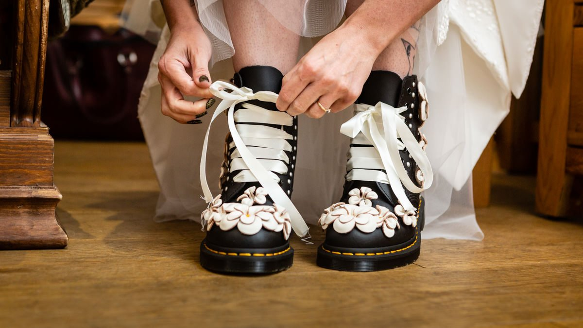 The Bride's Custom Dr Martens Wedding boots
