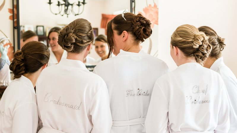 Kent Bride and Bridesmaids Getting Ready for Wedding