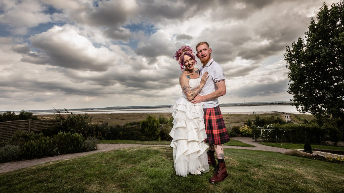 Rock n Roll Bride Alternative Wedding at Ferry House Inn Kent