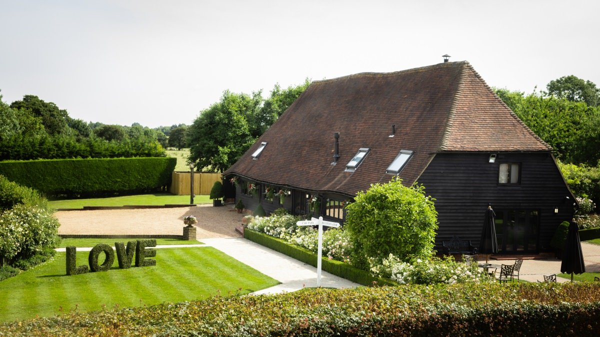 Getting Married at The Old Kent Barn Wedding Venue Smersole Farm Swingfield Dover Kent