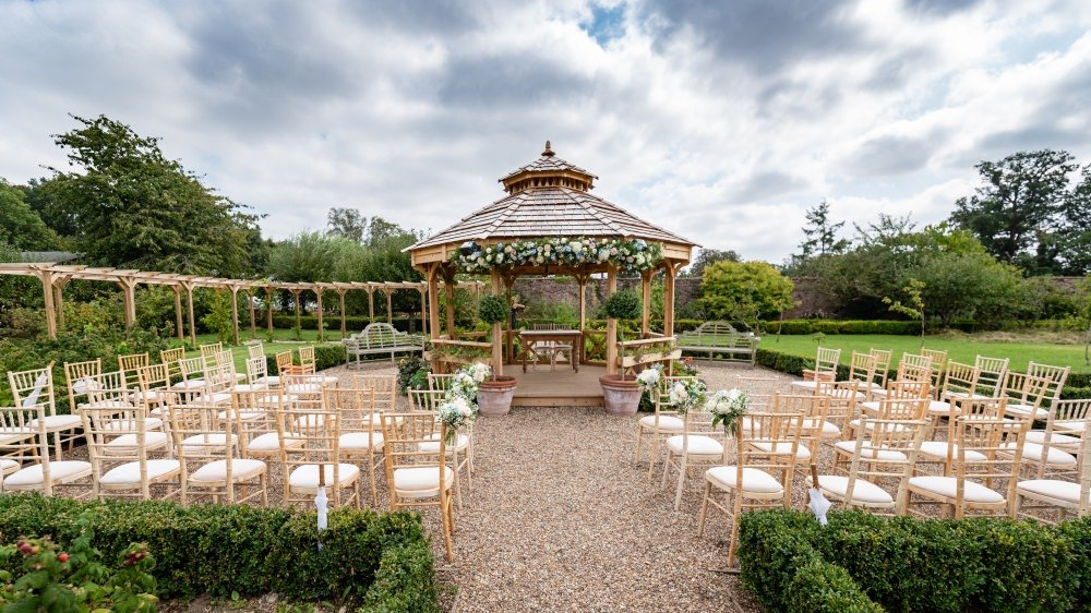 Outside Gazebo at The Secret Garden Ashford Kent Wedding Venue